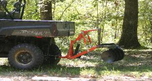 Polaris Ranger Full Size 800 with T-Point Lift three point hitch and Disk