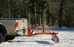 Snow Plowing with a truck three point hitch