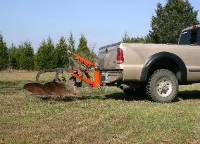 three point hitch on F-350 with 2 bottom plow